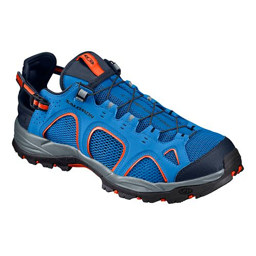 Mens Salomon Techamphibian 3 Hiking Shoe - Blue/Orange 10.5