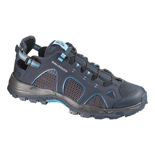 Mens Salomon Techamphibian 3 Hiking Shoe - Deep Blue 7.5