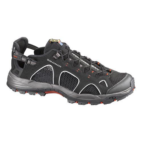 Mens Salomon Techamphibian 3 Hiking Shoe - Black 9.5