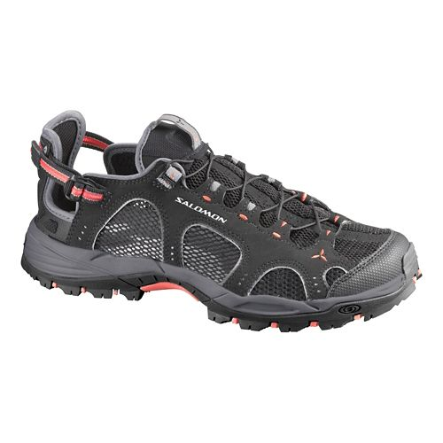 Womens Salomon Techamphibian 3 Hiking Shoe - Black/Grey 10