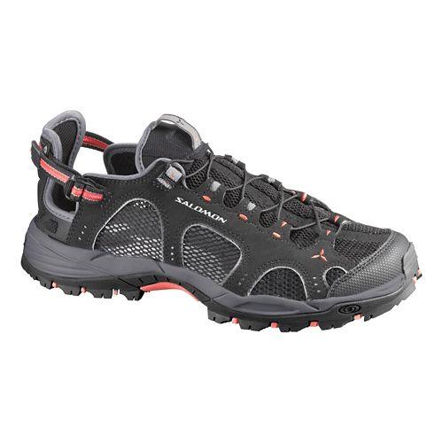 Womens Salomon Techamphibian 3 Hiking Shoe - Black/Grey 5.5