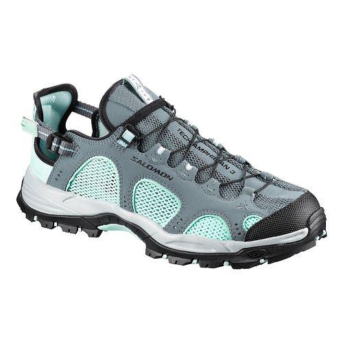Womens Salomon Techamphibian 3 Hiking Shoe - Blue/Black 7.5