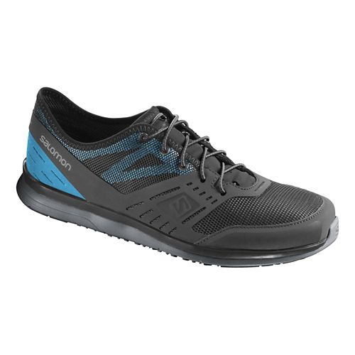 Mens Salomon Cove Casual Shoe - Black/Blue 11.5