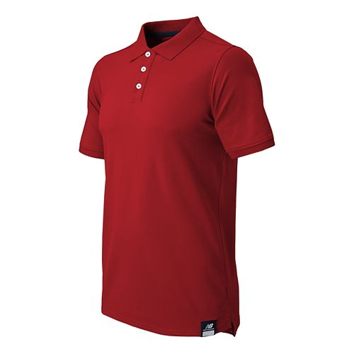 Mens New Balance Essential Polo Short Sleeve Technical Top - Chili Pepper M
