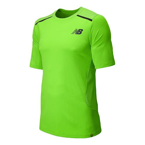 Mens New Balance Tournament Crew Short Sleeve Technical Top - Chemical Green S