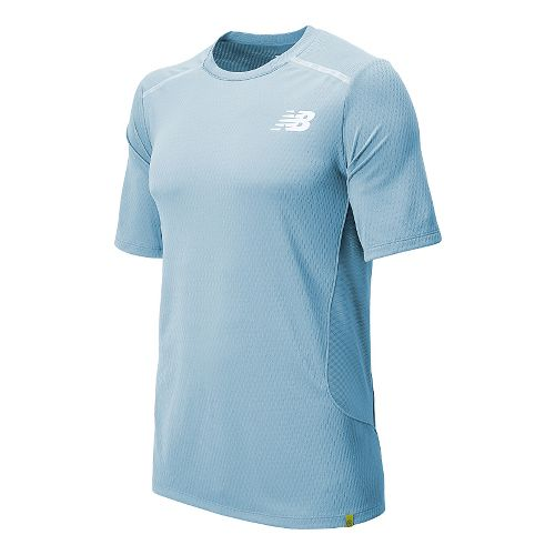 Mens New Balance Tournament Crew Short Sleeve Technical Top - Crystal S