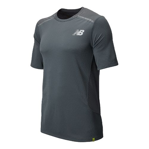 Mens New Balance Tournament Crew Short Sleeve Technical Top - White L