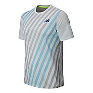 Mens New Balance Challenger Crew Short Sleeve Technical Top