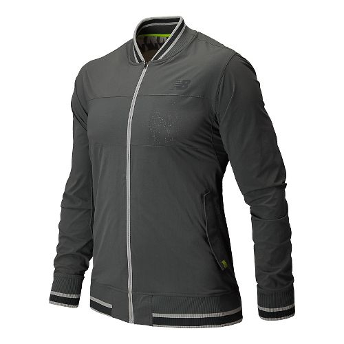 Mens New Balance Tournament Warm Up Warm Up Hooded Jackets - White L