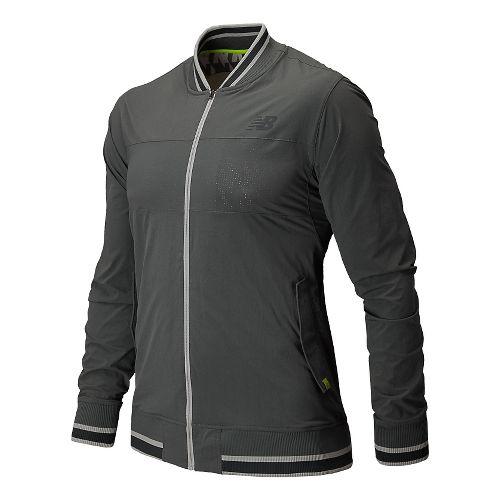 Mens New Balance Tournament Warm Up Warm Up Hooded Jackets - White XL