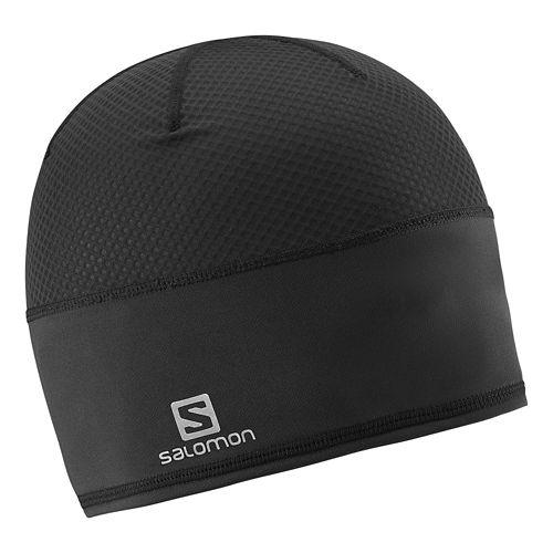Salomon Race Beanie Headwear - Black/Yellow L/XL
