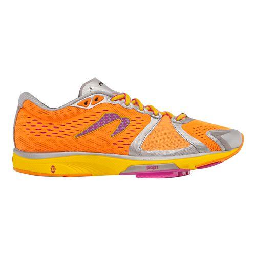 Womens Newton Running Gravity IV Running Shoe - Orange/Pink 10.5