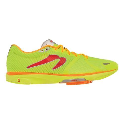 Mens Newton Running Distance IV Running Shoe - Citron/Orange 10.5