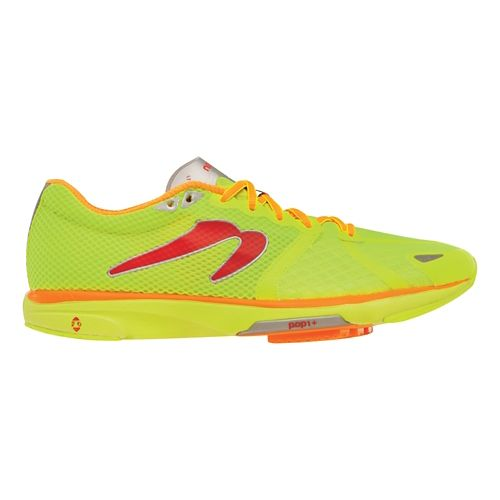 Mens Newton Running Distance IV Running Shoe - Citron/Orange 10.5