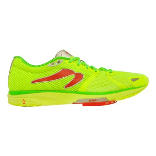 Womens Newton Running Distance IV Running Shoe - Citron/Green 9