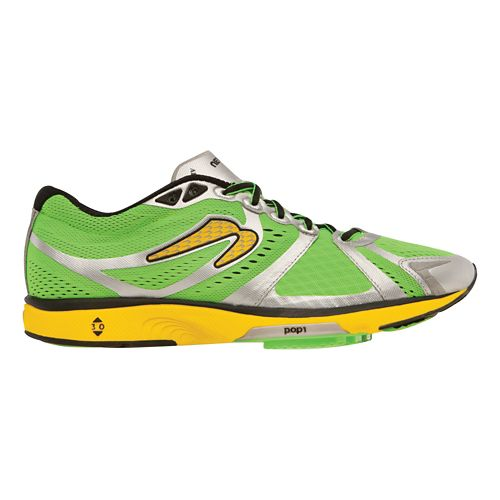 Mens Newton Running Motion IV Running Shoe - Green/Yellow 11.5