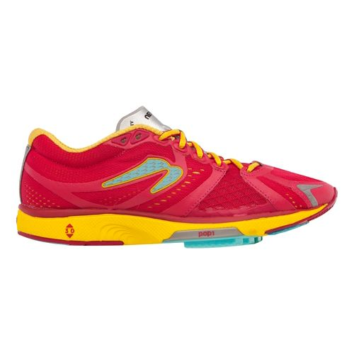 Womens Newton Running Motion IV Running Shoe - Cranberry/Yellow 10.5