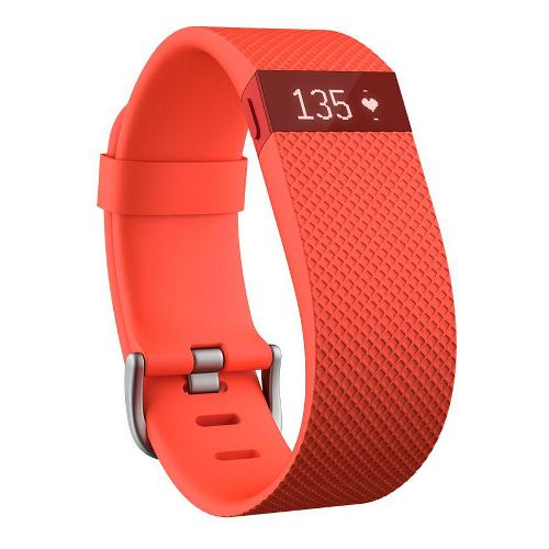 Fitbit Charge HR Wireless Heart Rate + Activity Wristband Monitors - Plum L