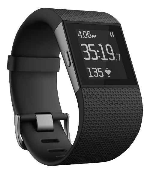 Fitbit Surge Fitness Superwatch Monitors - Black L