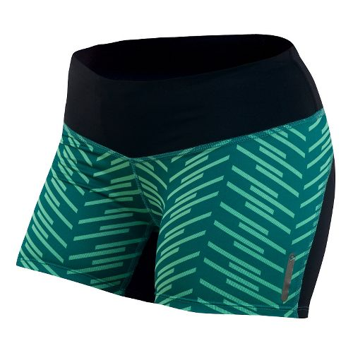 Womens Pearl Izumi Flash Tight Print Shorts - Deep Lake Print XL