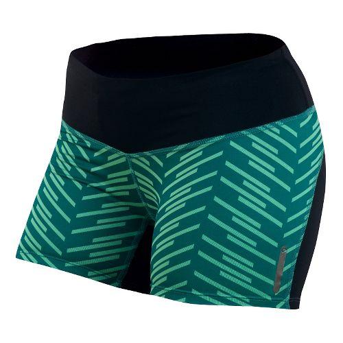 Womens Pearl Izumi Flash Tight Print Shorts - Deep Lake Print XS