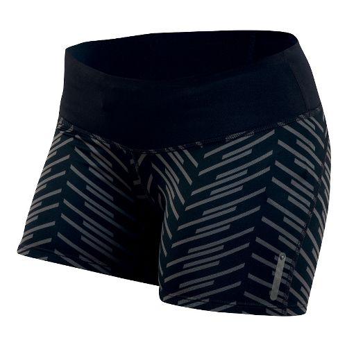 Womens Pearl Izumi Flash Tight Print Shorts - Black Print XL
