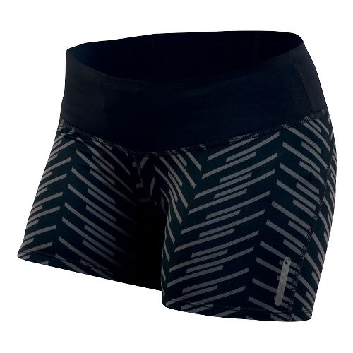 Womens Pearl Izumi Flash Tight Print Shorts - Black Print XS
