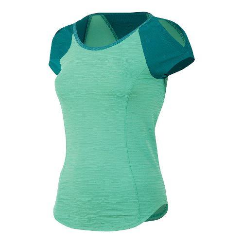 Womens Pearl Izumi Flash Short Sleeve Technical Tops - Gumdrop/Deep Lake L