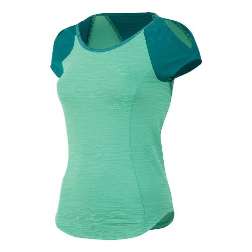 Womens Pearl Izumi Flash Short Sleeve Technical Tops - Gumdrop/Deep Lake S