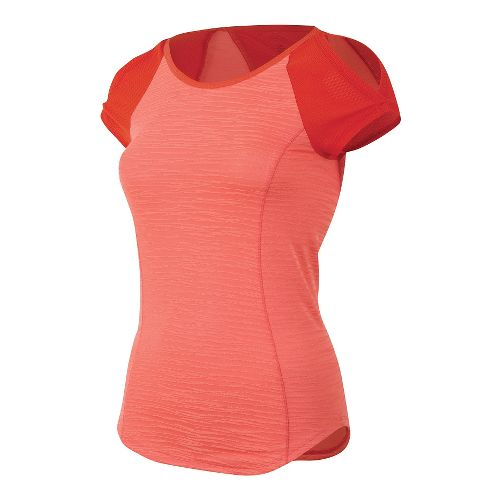 Womens Pearl Izumi Flash Short Sleeve Technical Tops - Living Coral/Red XS