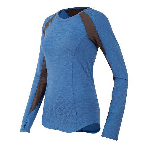 Womens Pearl Izumi Flash Long Sleeve Technical Tops - Sky Blue/Grey L