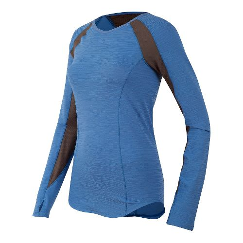 Womens Pearl Izumi Flash Long Sleeve Technical Tops - Sky Blue/Grey M