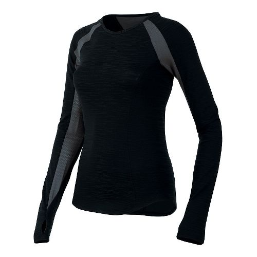 Womens Pearl Izumi Flash Long Sleeve No Zip Technical Tops - Living Coral/Red M