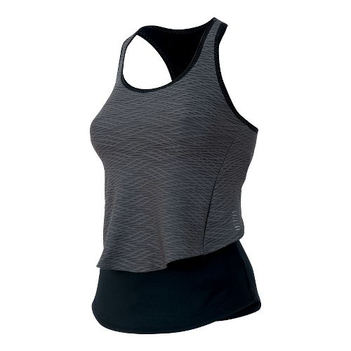 Womens Pearl Izumi Flash Sport Tank Technical Tops - Black/Shadow Grey L