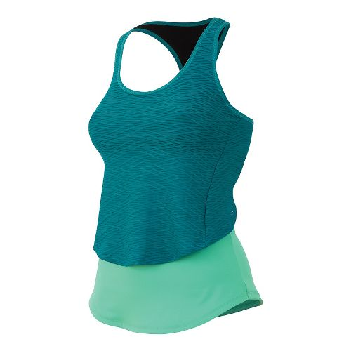 Womens Pearl Izumi Flash Sport Tank Technical Tops - Gumdrop/Deep Lake M