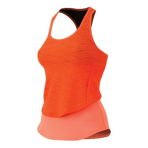 Womens Pearl Izumi Flash Sport Tank Technical Tops - Living Coral/Red L