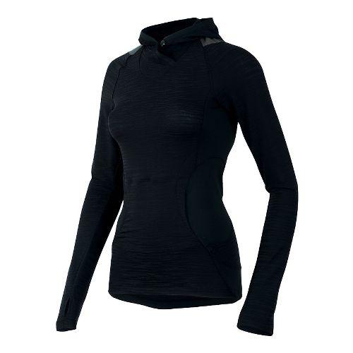 Womens Pearl Izumi Flash Long Sleeve Hooded Technical Tops - Black/Shadow Grey XL