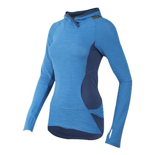 Womens Pearl Izumi Flash Hoodie & Sweatshirts Technical Tops - Sky Blue/Grey L