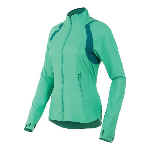 Womens Pearl Izumi Flash Outerwear Jackets - Gumdrop/Deep Lake XS