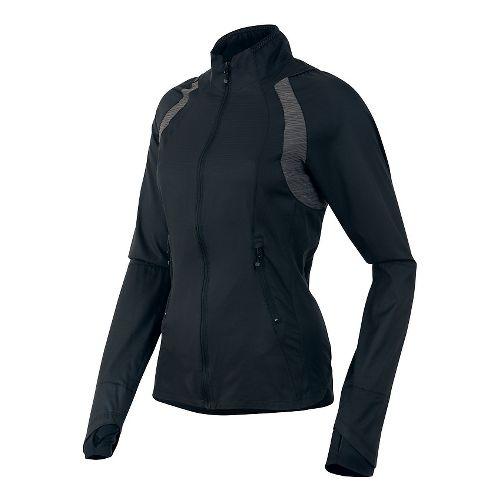 Womens Pearl Izumi Flash Outerwear Jackets - Black/Shadow Grey L