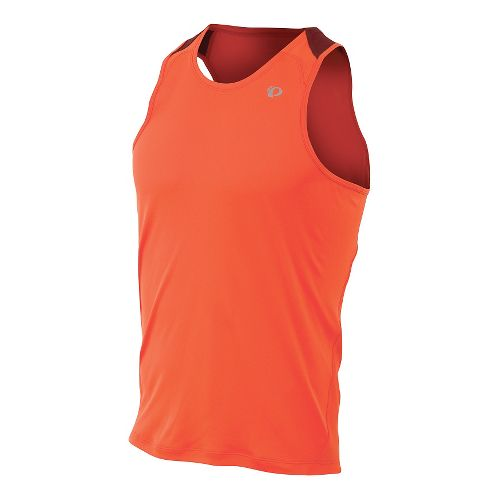 Mens Pearl Izumi Fly Singlet Tank Technical Tops - Mandarin Red L