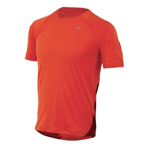 Mens Pearl Izumi Fly Short Sleeve Technical Tops - Mandarin Red XL