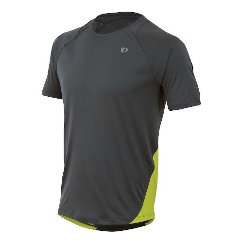 Mens Pearl Izumi Fly Short Sleeve Technical Tops - Shadow Grey M