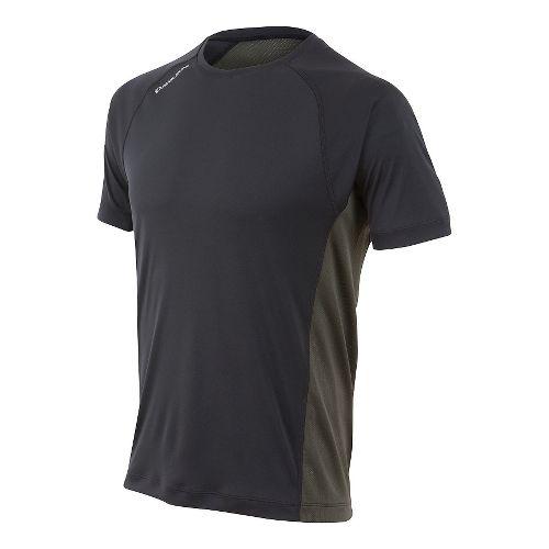 Mens Pearl Izumi Flash Short Sleeve Technical Tops - Black/Shadow Grey S