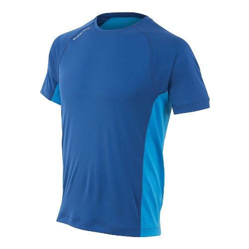 Mens Pearl Izumi Flash Short Sleeve Technical Tops - Limoges/Blue S