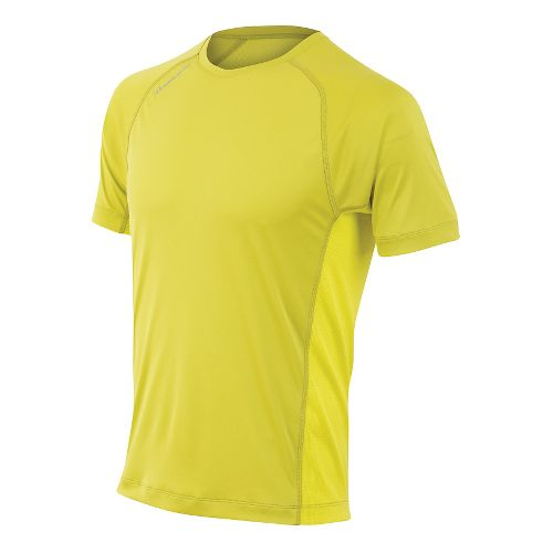 Mens Pearl Izumi Flash Short Sleeve Technical Tops - Citronelle/Sulphur S