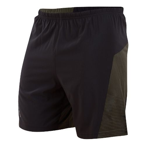 Mens Pearl Izumi Flash Lined Shorts - Black/Shadow Grey L