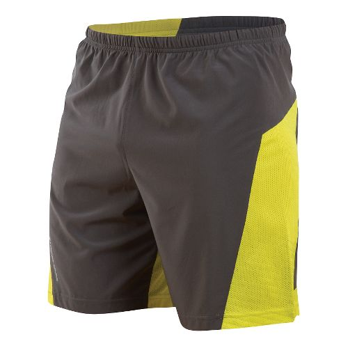 Mens Pearl Izumi Flash Lined Shorts - Shadow Grey/Sulphur M