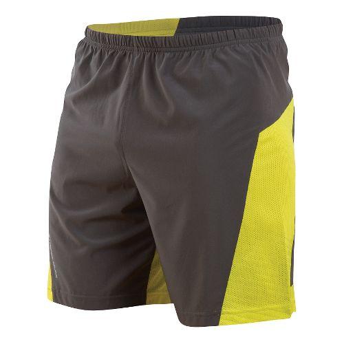 Mens Pearl Izumi Flash Lined Shorts - Shadow Grey/Sulphur S