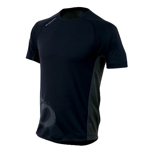 Mens Pearl Izumi Flash Graphic Short Sleeve Technical Tops - Black S